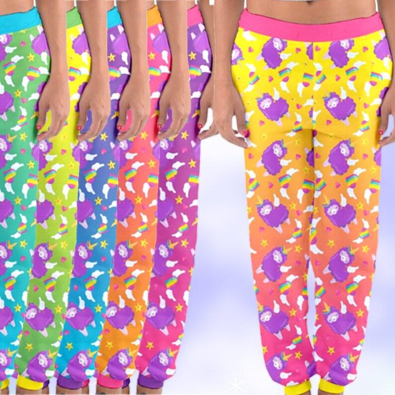 3e1f9786d9030 Unicorn Llamacorns '90s Inspired Joggers Pants, fairykei pants, yami kawaii  pants, boy style fairykei, kawaii boy, fairy kei boy, pastel kei