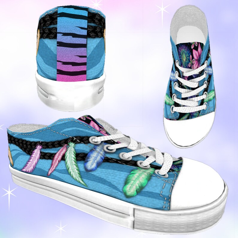 018beb0550554 ADULT Pandora Inspired Low Top Sneakers Unisex, world of avatar, pandora  avatar, disney inspired, disney avatar, na'avi, animal kingdom