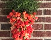 Orange Tulip Door/Wall Hanging