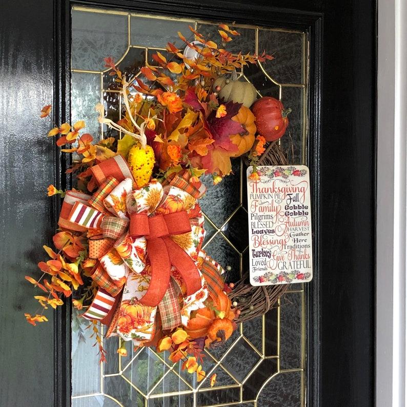 Fall Floral Grapevine Wreath