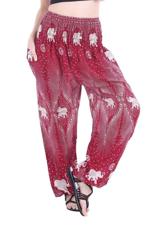 SM016 Smock Waist Trousers Aladdin Smock Pants Hippie Boho Smock Waist Big Size Bohemian Elephant Teardrop Yoga Pants Fisherman Pants