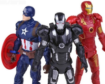 Marvel Avengers 3pcs/set  Civil War Iron Man Captain America Action Figures toys