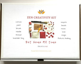 Craft Kit For Adults Creative Mindfulness Gifts Meditation Gift Ideas Mothers Day Idea Birthday Her Under 30 Red