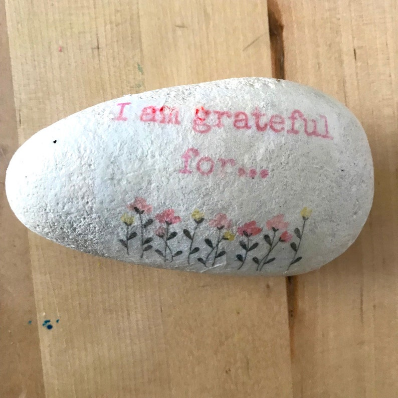 Large Gratitude Pebble Gift Ideas Under 10