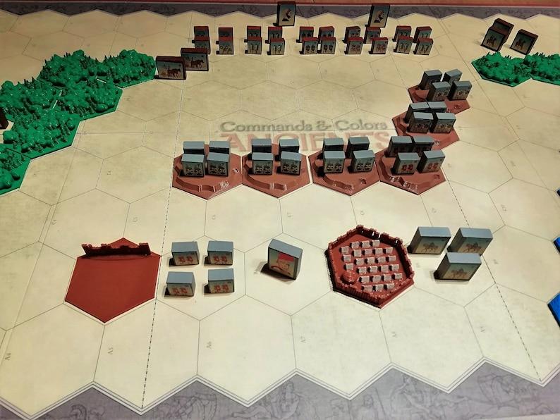 Command & Colors 3D hex tiles for terrain