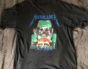 20ee6e5d7f72 Vintage Metallica Crash Course in Brain Surgery t shirt