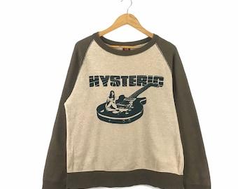 Hysteric Glamour SlimFit Fullprint PictureBikers Women Japanese Size Small LongSleeve Tshirt