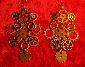 """""""Steampunk #01"""" earrings"""