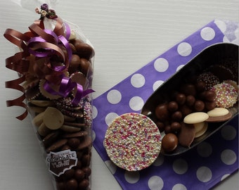 Chocolate filled cone