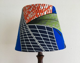 African lamp etsy ankara kitenge african wax print accent lamp shade for table lamp african decor aloadofball Images