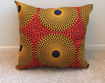 African Fabric Throw Pillows Etsy