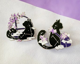Constellation cat hard enamel pin