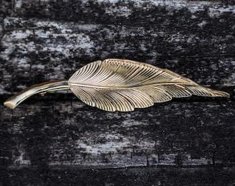 Vintage Tiffany & Co 14k Leaf Brooch