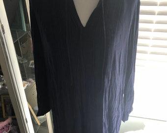Blue Chiffon BoHo Dress