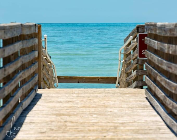 "Featured listing image: Photography PRINT - Wall Art Decor - ""Ocean Path - Honeymoon Island"""