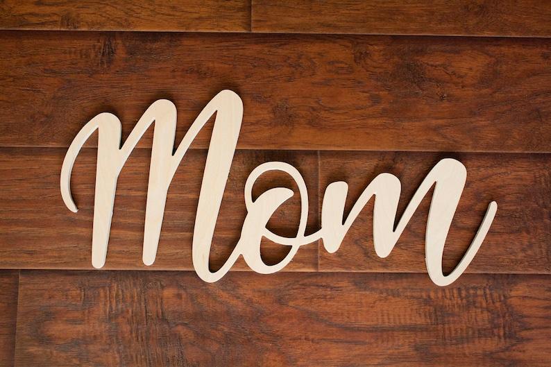 Custom Word Cutout Wood 1/4 Inch Plywood Free Shipping image 0