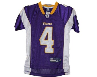 8811b2fcc Minnesota Vikings - Youth Brett Favre  4 Purple Vintage Throwback Jersey