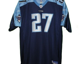 Tennessee Titans - Eddie George  27 Navy Blue Vintage Throwback Jersey 9213d626d