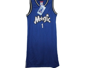 sale retailer 56207 ea1d7 Orlando Magic - Tracy Mcgrady  1 Blue Throwback Jersey Dress