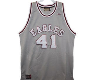 511b6eb2f9e North Carolina Central Eagles - Sam Jones  41 Grey Throwback Jersey