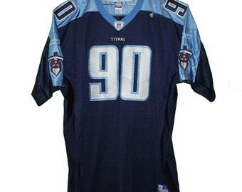 Tennessee Titans - Jevon Kearse  90 Navy Blue Vintage Throwback Jersey 67dd90656
