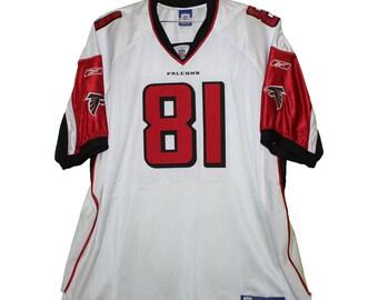 Atlanta Falcons - Peerless Price  81 White Vintage Throwback Jersey 08257b436