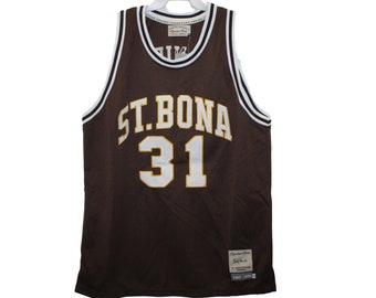 93a5decc3e3 St Bonaventura Bonnies - Bob Lanier  31 Brown Throwback Jersey