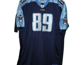 Tennessee Titans - Frank Wycheck  89 Navy Blue Vintage Throwback Jersey 5fb1e70a6