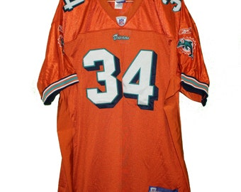 ff295284fd4 Miami Dolphins - Ricky Williams #34 Orange Vintage Throwback Jersey