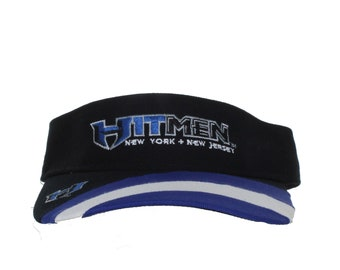 XFL - NY NJ Hitmen - Vintage Text And Logo On Black Adjustable Visor f5850c700