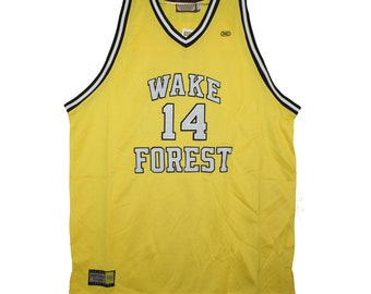 8765cf7f130 Wake Forest Deacons - Embroidered Yellow Bogues Vintage Throwback Jersey