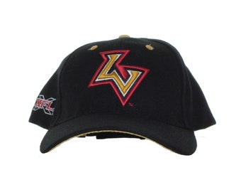 233212d8a0a XFL - Las Vegas Outlaws - Vintage Team Logo And XFL Logo On Black  Adjustable Hat