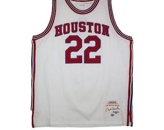 7cb77d288d7 Houston Cougars - Vintage Throwback White Drexler Jersey