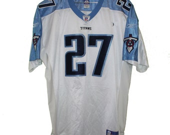 Tennessee Titans - Eddie George  27 White Vintage Throwback Jersey 9a9d39578