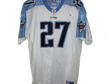 Tennessee Titans - Eddie George  27 White Vintage Throwback Jersey ff0124baf