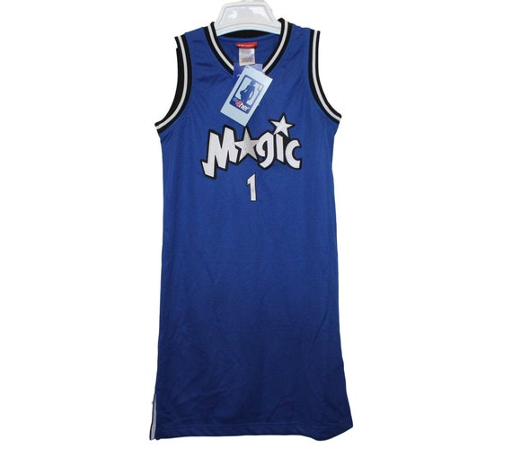 quality design 4c7b6 f19d8 Orlando Magic - Tracy Mcgrady #1 Blue Throwback Jersey Dress