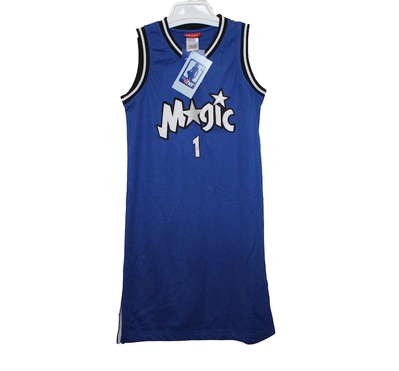 quality design 9a2fa 0e9da Orlando Magic - Tracy Mcgrady #1 Blue Throwback Jersey Dress