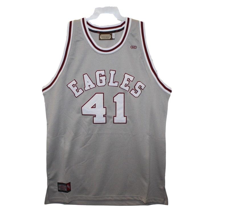 buy popular 046e3 382a5 North Carolina Central Eagles - Sam Jones #41 Grey Throwback Jersey