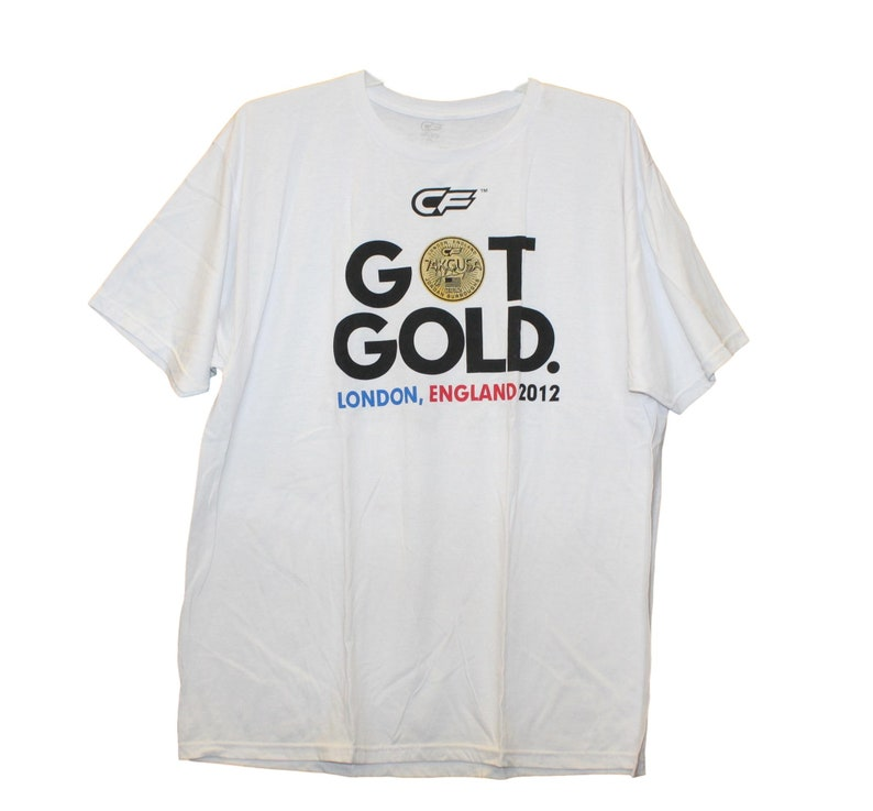 Got Gold England Screenprinted White Shirt Cage Fighter