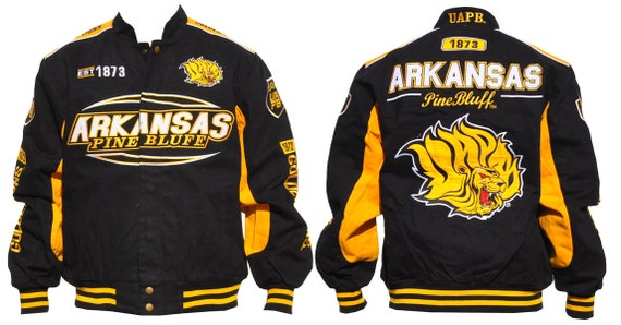 Arkansas Pine Bluff Lions Script Name and EST Date over Crest on Snap Racing ...