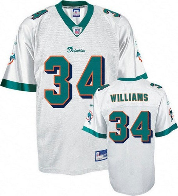 brand new 69a2c 1678e Miami Dolphins - Ricky Williams #34 White Vintage Throwback Jersey