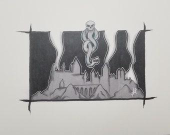 Hogwarts and Darkmark Art Print