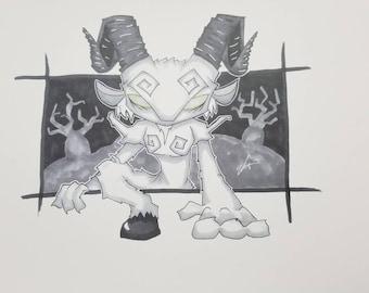 Pan's Labyrinth Chibi Faun Art Print