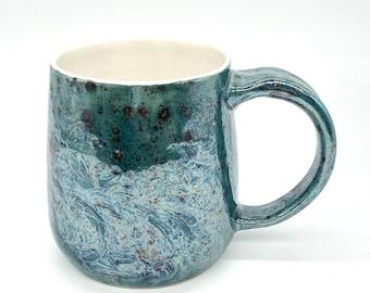 Dark pastel mother of pearl mug