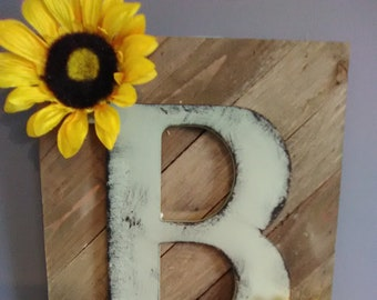 Personalized distressed handmade sign