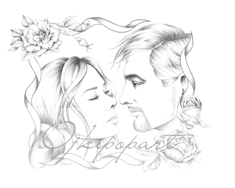 2 pdf files: dark and bright version. Printable coloring page for adults Valentine/'s Day Face Carousel 11