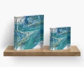 "4""x4"" or 6""x6"" beach acrylic blocks"