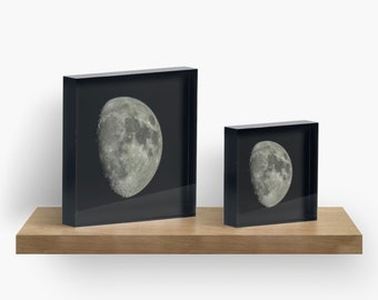 "4""x4"" or 6""x6"" moon decor acrylic blocks"