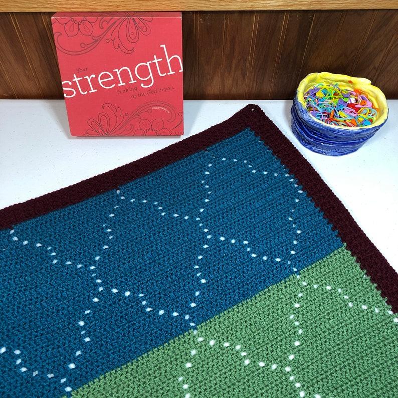 Moroccan Mosaic Filet BlanketCrochet Blanket Filet Crochet Crochet Baby Blanket Crochet Moroccan Tile Blanket Pattern Crochet Baby Gift