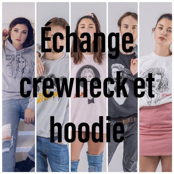 Exchange crewneck and hoodie